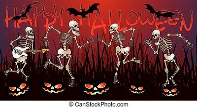 esqueleto, partido, rad