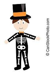 esqueleto, traje