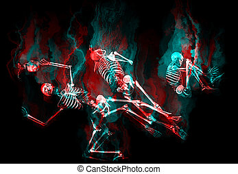 esqueletos, humano