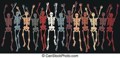 esqueletos, junto