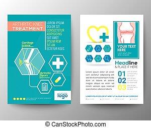 esquema, cartaz, médico, voador, saúde, modelo, folheto,...