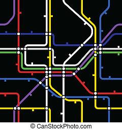 esquema, fundo, seamless, metro