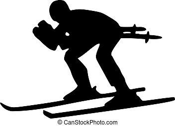 esqui, declive