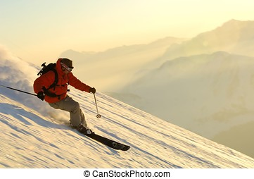 esqui, desporto, -