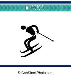 esqui, desporto, desenho