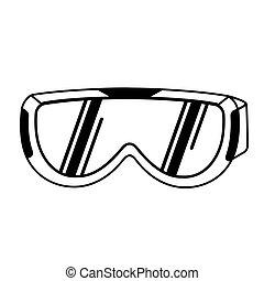 esqui, goggles., inventário, para, inverno, sports., olho, protection.