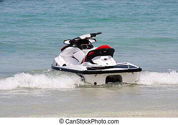 esqui jato, ou, água, scooter, ligado, tailandia, oceânicos