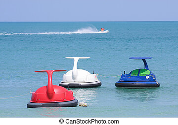 esqui jato, ou, água, scooter, ligado, thalland, oceânicos