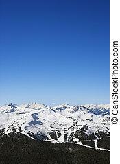 esqui, rastros, ligado, mountain.