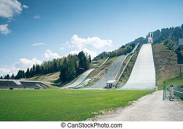 esqui-saltar, garmisch-partenkirchen