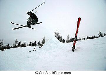 esquiando extremo