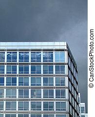 esquina, de, la oficina, edificio