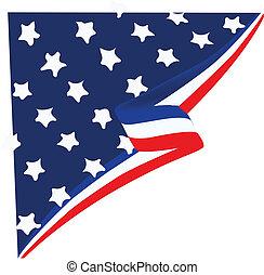esquina, norteamericano, vector, frontera