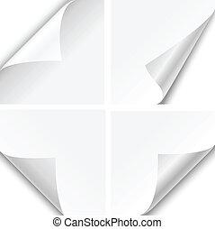 esquina, papel, pliegues