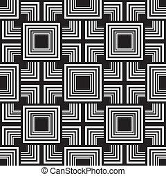 esquinas, y, cuadrados, juego, resumen, seamless, plano de fondo