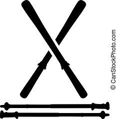 esquis, esqui, varas