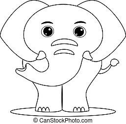 esquissé, éléphant