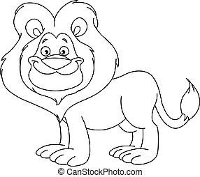 esquissé, lion