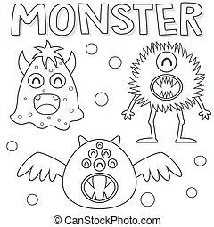 esquissé, monstres