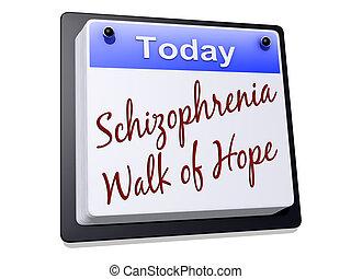 esquizofrenia, caminata, de, esperanza