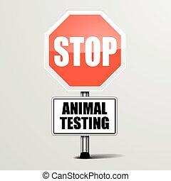essai, arrêt, animal