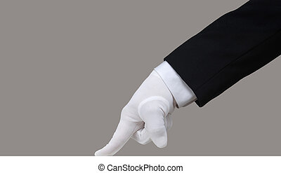 essai, blanc, gant
