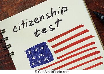 essai, flag., américain, citoyenneté