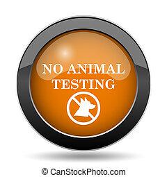 essai, non, animal, icône
