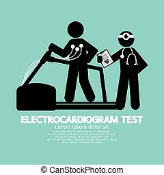 essai, vecteur, électrocardiogramme, illustration