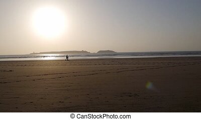 essaouira beach sunset