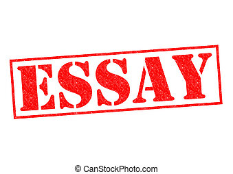 ESSAY red Rubber Stamp over a white background.