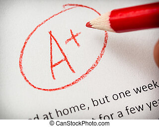 essay, tekening, papier, of