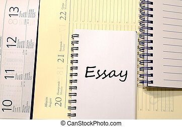 Essay write on notebook