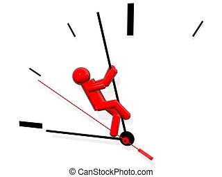 essayer, sauver, temps