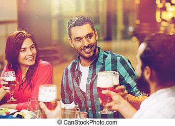 essen, bier, friends, trinken, gasthaus