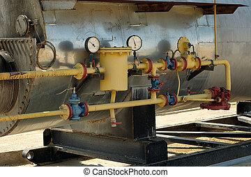 essence, équipement, huile, heaters.