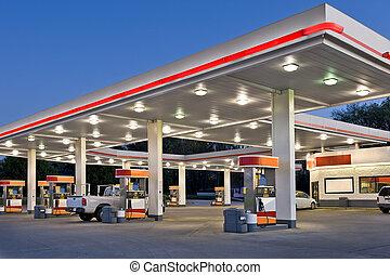 essence, magasin, station, vente au détail, commodité