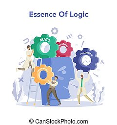 Essence of logic. Scientist systematicly study of the forms ...