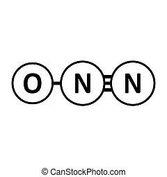 essence, oxyde nitreux, molécule, icon.