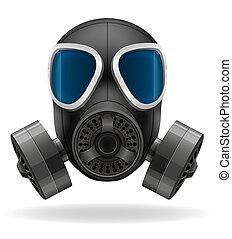 essence, vecteur, masque, illustration