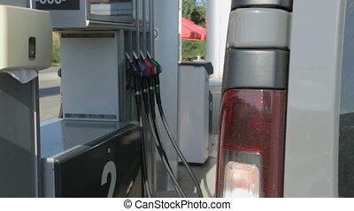 essence, voiture, station