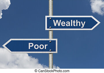 essendo, contro, povero, ricco