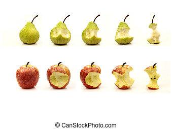 essendo, mela pera, mangiato