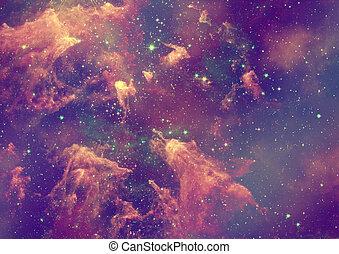 essendo, nebulosa, splendere