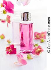essential aromatic oils - Bottles of essential aromatic oils...