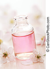 essential oil and flowers