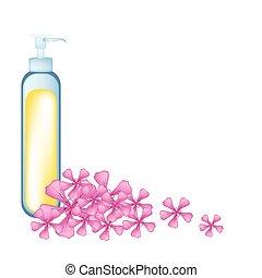 Essential oil and Pink Rose Geraniumor Pelargonium...