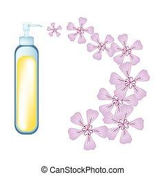 Essential oil and Rose Geraniumor Pelargonium Graveolens -...