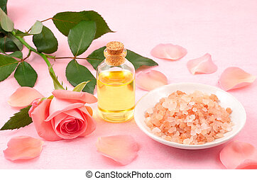 Essential oil and salt - Essential oil and himalayan...
