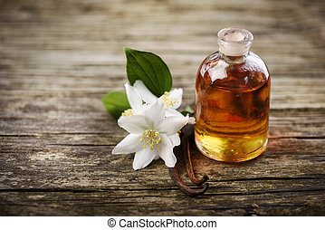 Essential Oil - Essential oil with jasmine flower and...
